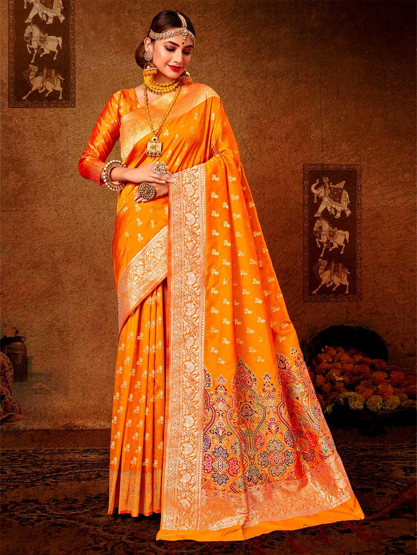 Classy magenta wedding wear banarasi silk saree?imgeng=w_400