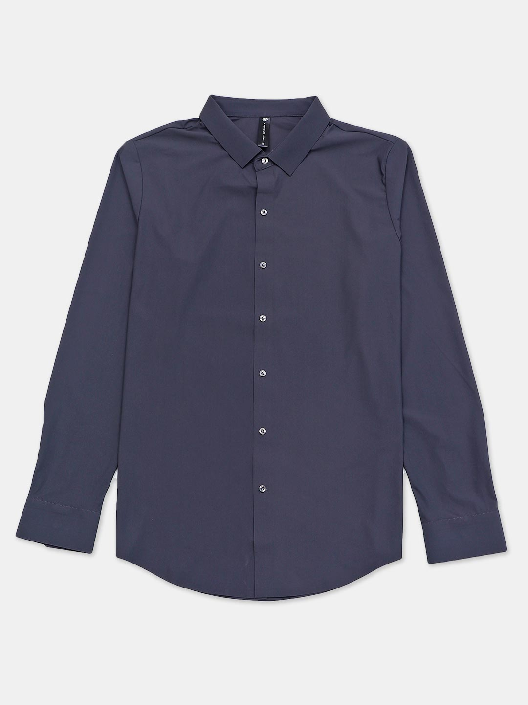 Cookyss full sleeves dark grey solid casual shirt?imgeng=w_400