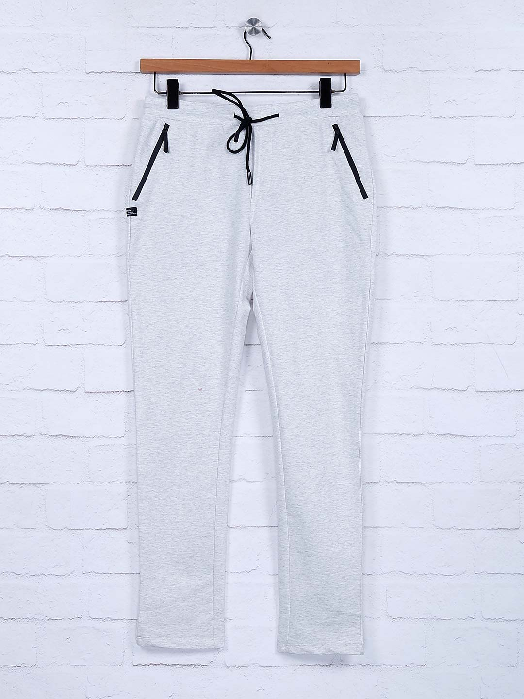 Cookyss light grey hue solid cotton track pant?imgeng=w_400