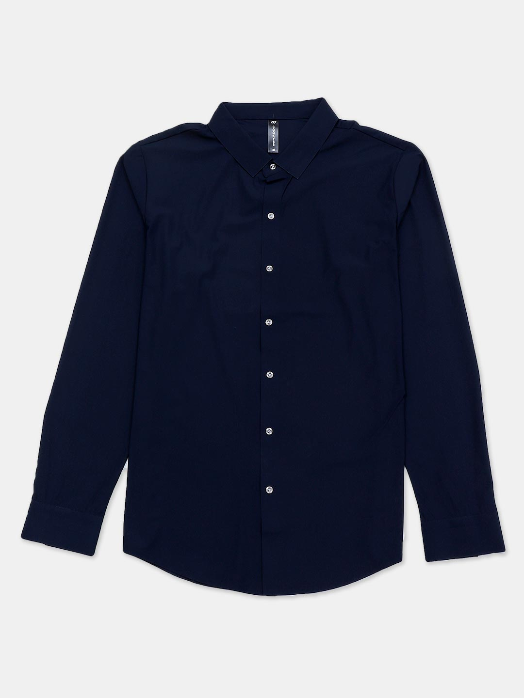 Cookyss navy solid shirt in cotton for mens?imgeng=w_400