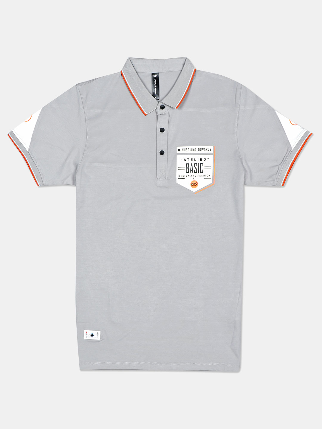 Cookyss printed grey polo t-shirt?imgeng=w_400