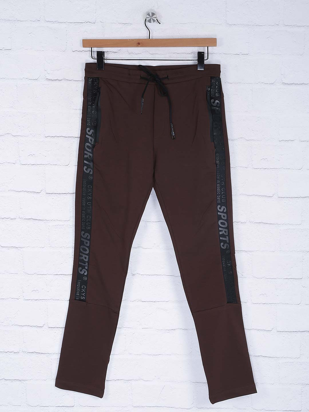 Cookyss solid brown hued track pant?imgeng=w_400
