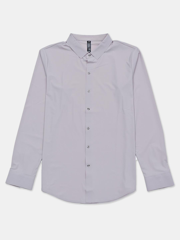 Cookyss solid grey slim collar shirt?imgeng=w_400