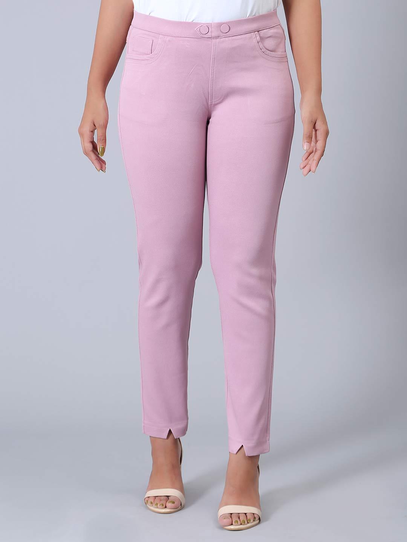 Cotton casual wear pink jeggings?imgeng=w_400