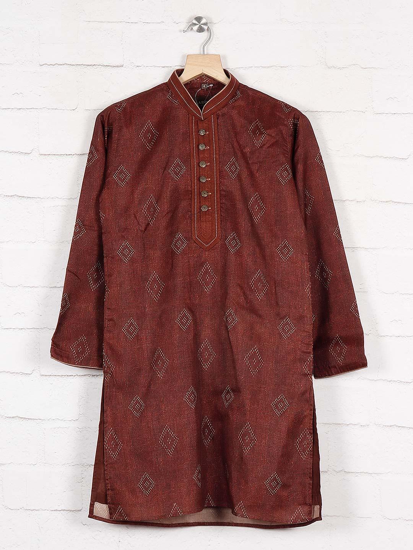 Cotton fabric maroon hue kurta suit?imgeng=w_400