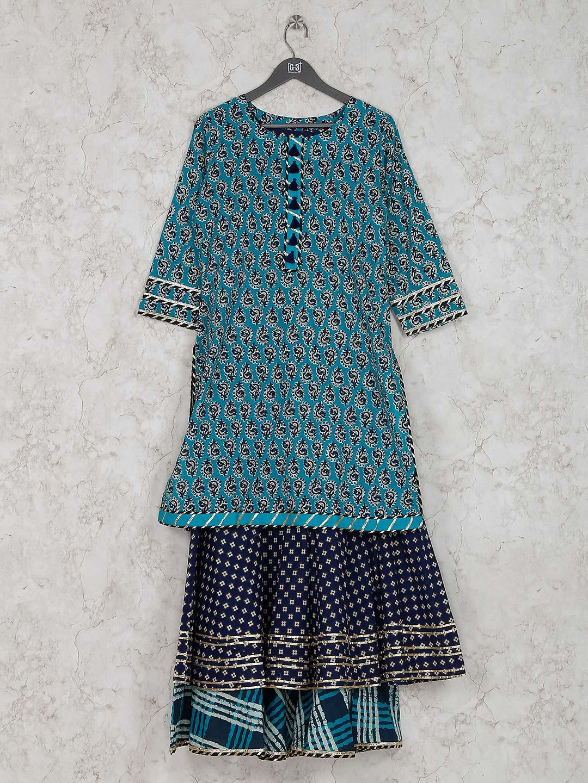 Cotton fabric printed pattern casual wear kurti?imgeng=w_400