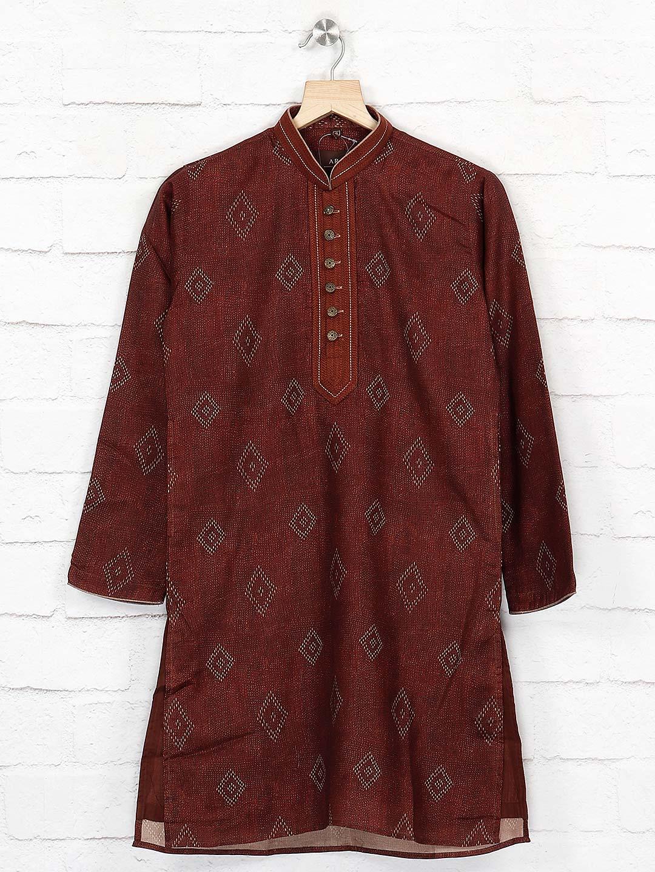 Cotton maroon hue simple kurta suit?imgeng=w_400