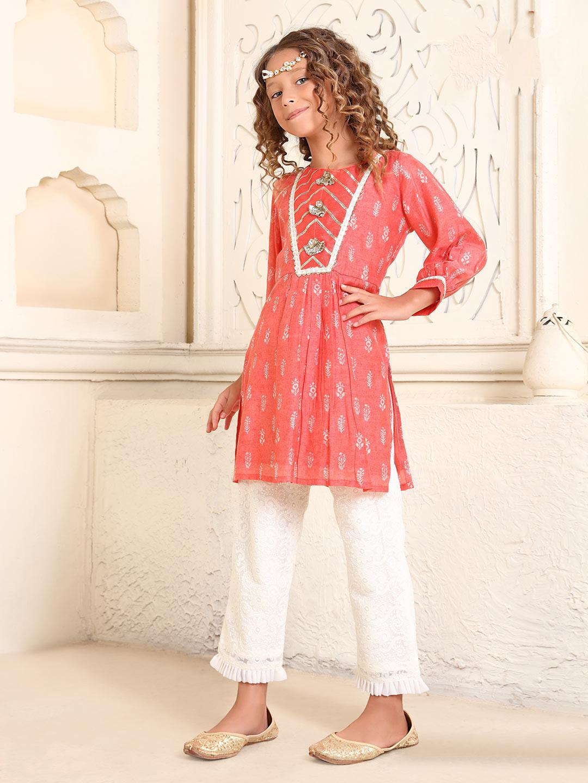 Cotton red printed pant salwar suit?imgeng=w_400