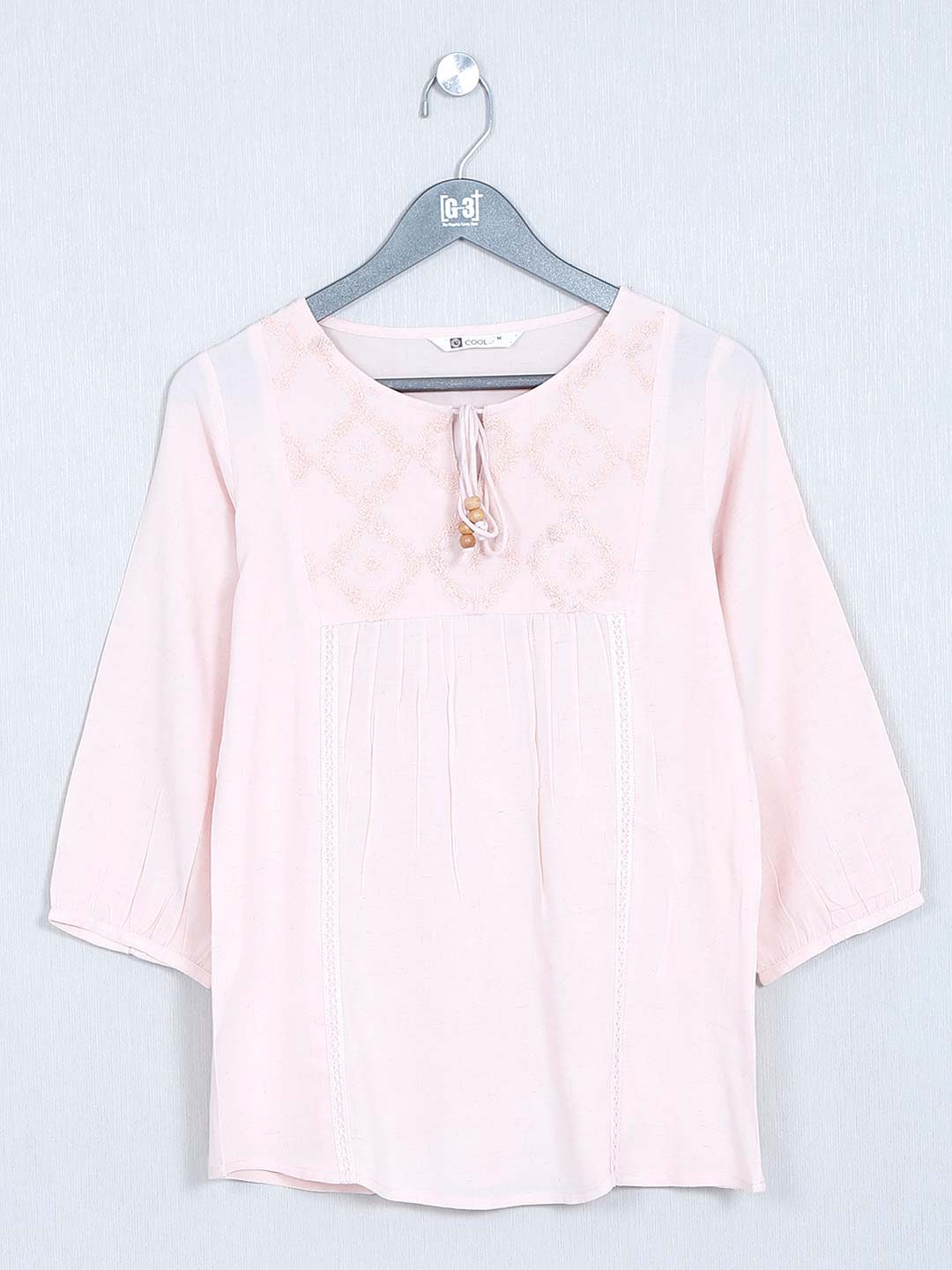 Cotton top for women in pink?imgeng=w_400