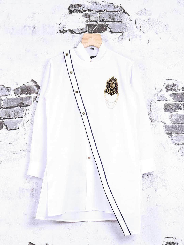 Cotton white party wear kurta suit?imgeng=w_400