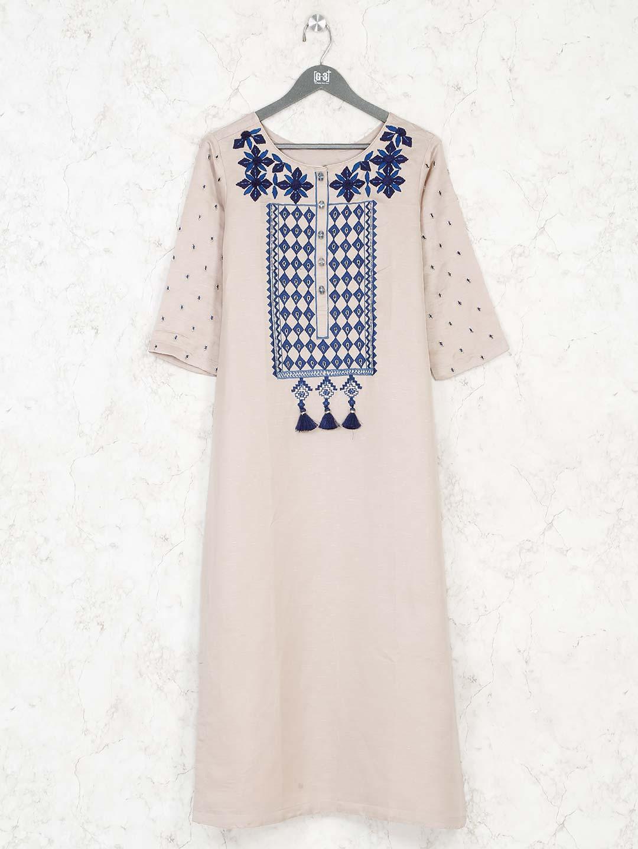 Cream cotton kurti for casual wear?imgeng=w_400