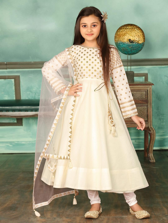 Cream cotton silk wedding anarkali suit?imgeng=w_400