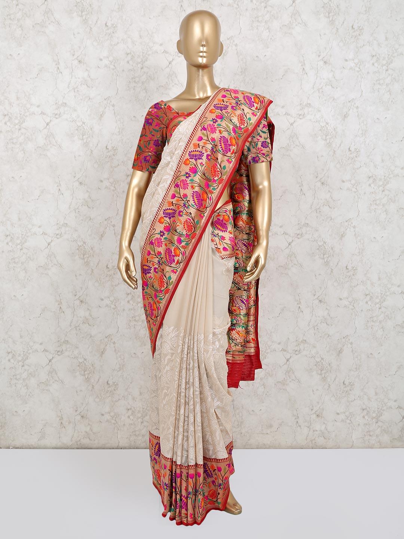 Cream georgette saree for wedding?imgeng=w_400