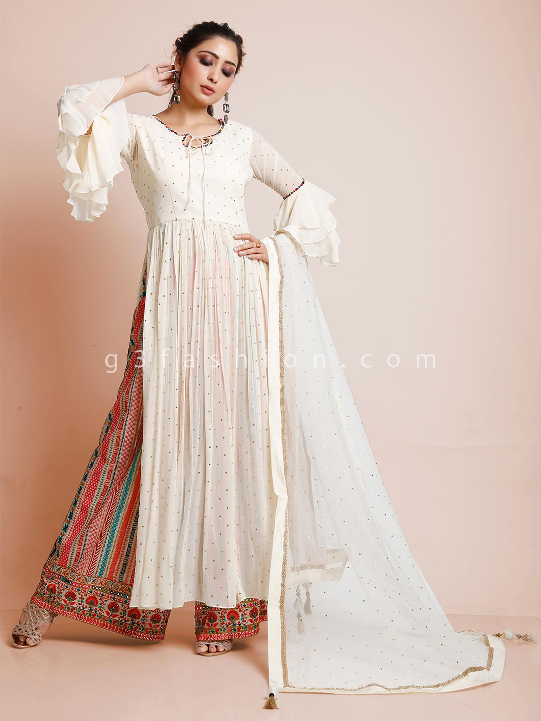 Cream georgette wedding occasion palazzo suit?imgeng=w_400