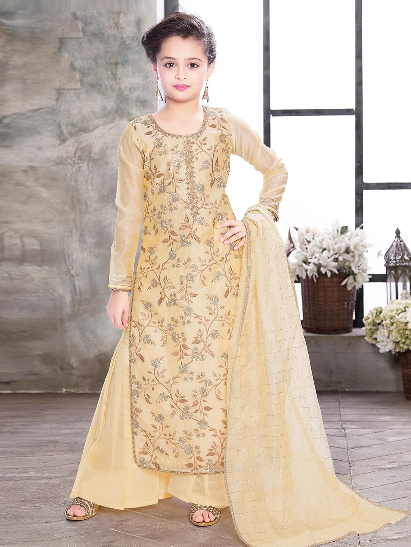 Cream hued designer punjabi palazzo suit?imgeng=w_400