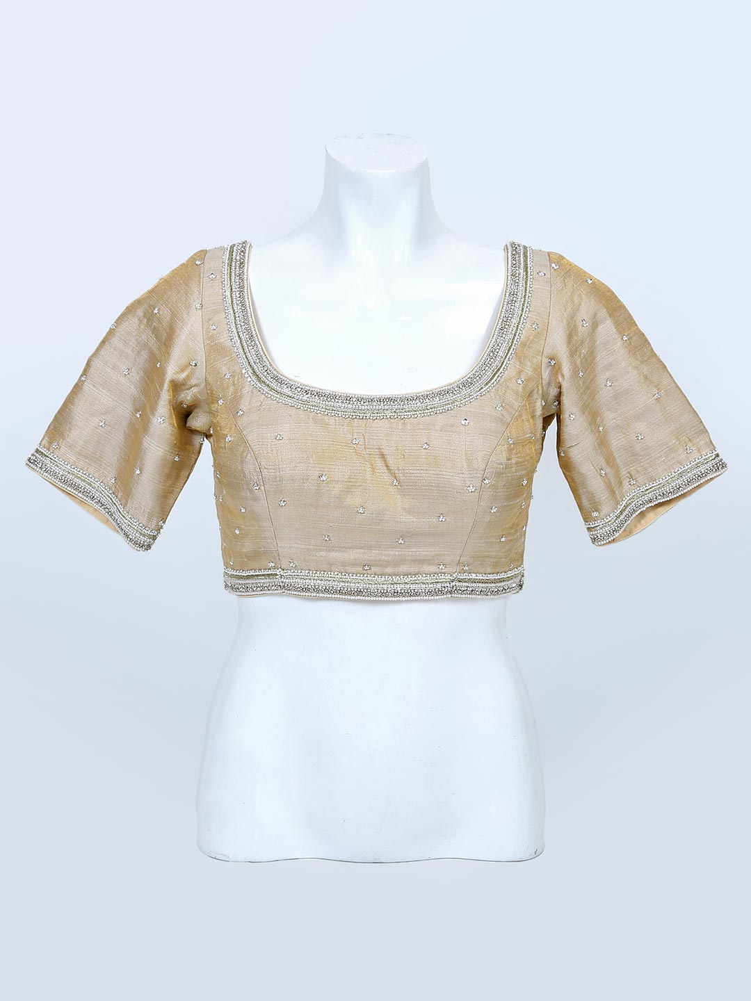 Cream readymade blouse for women?imgeng=w_400