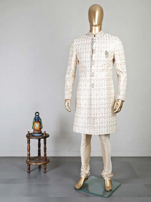Cream wedding occasion silk sherwani for men?imgeng=w_400
