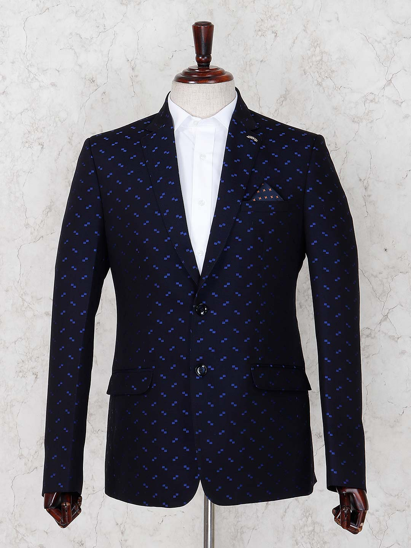 Dark navy hue terry rayon designer blazer?imgeng=w_400