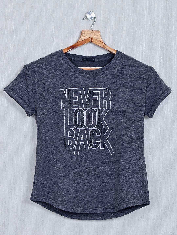 Deal Printed dark grey cotton casual top?imgeng=w_400
