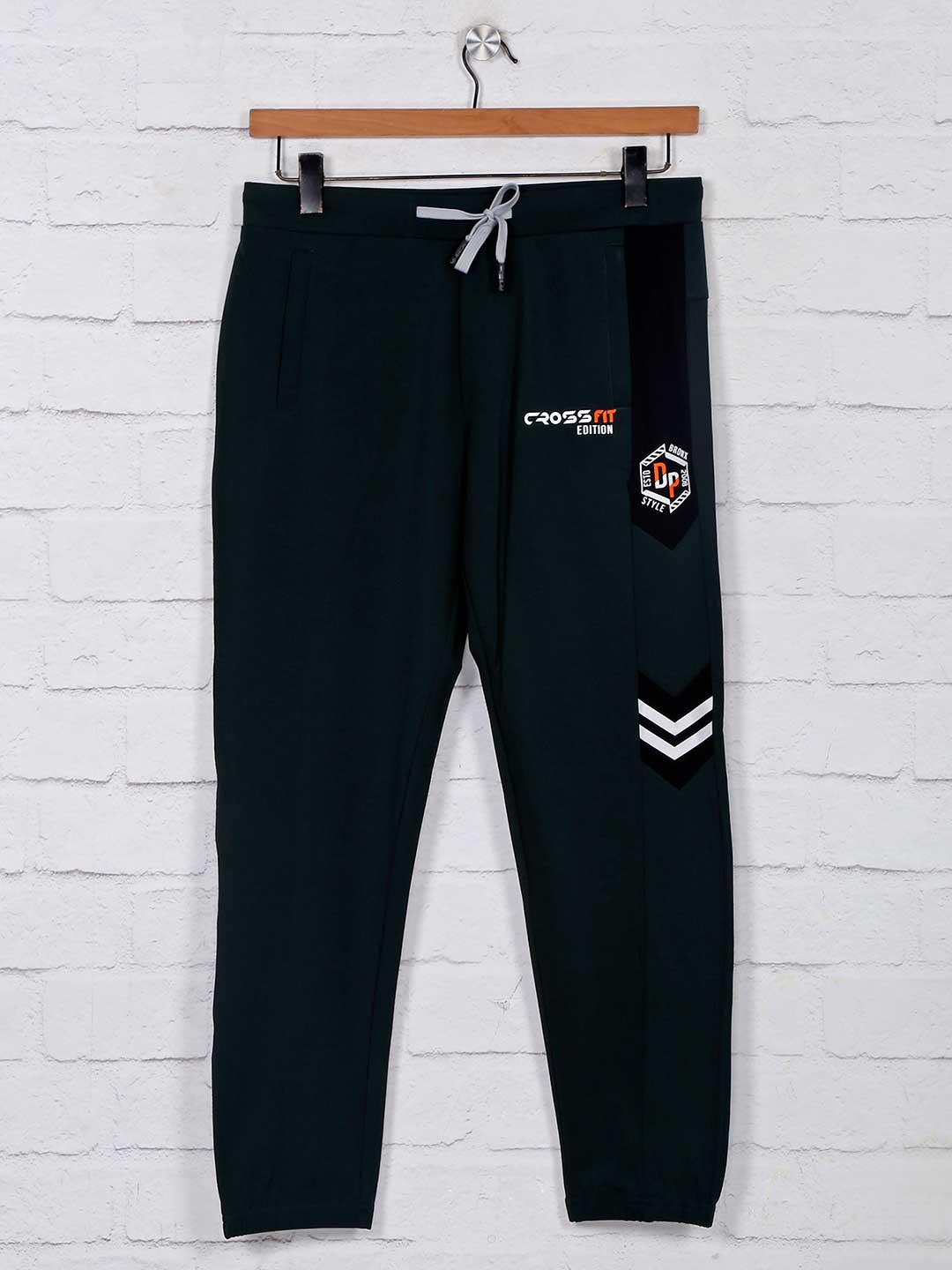 Deepee green cotton track pant for mens?imgeng=w_400