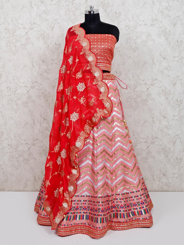 Designer pink silk wedding wear lehenga choli?imgeng=w_400