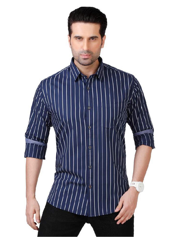 Dragon Hill navy solid cotton shirt?imgeng=w_400