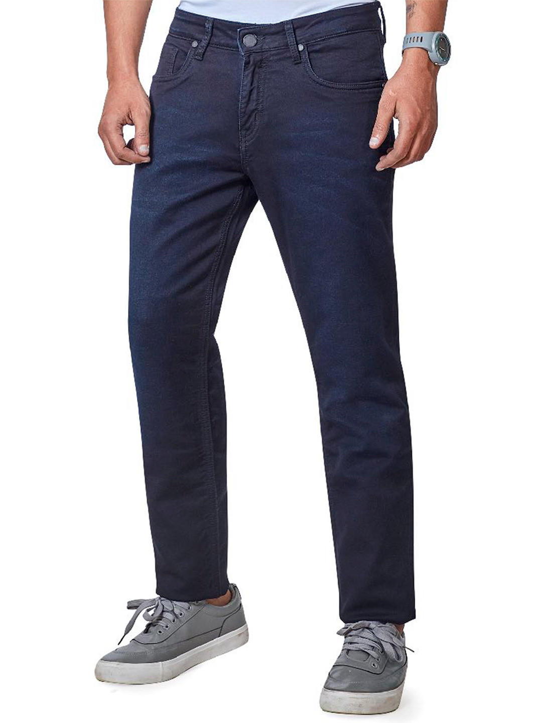 Dragon Hill navy solid mens jeans?imgeng=w_400