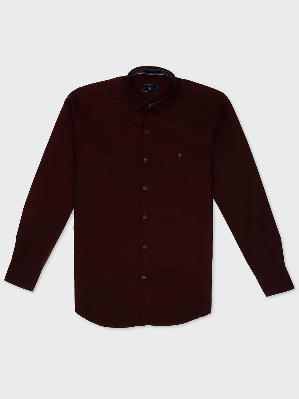 EQIQ maroon hue cotton shirt?imgeng=w_400