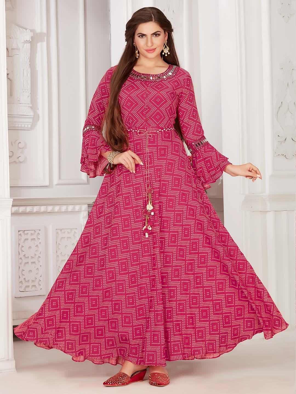 Exclusive magenta colour printed cotton kurti?imgeng=w_400