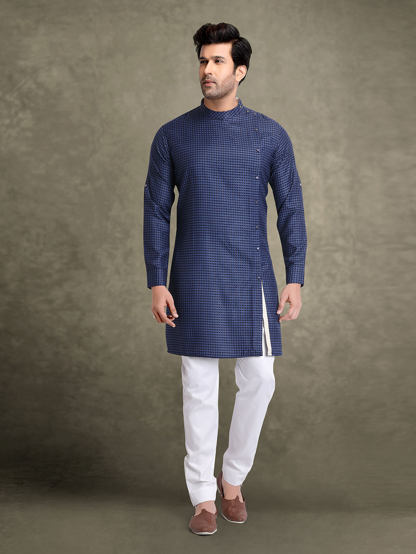Festive occasion navy printed kurta suit?imgeng=w_400