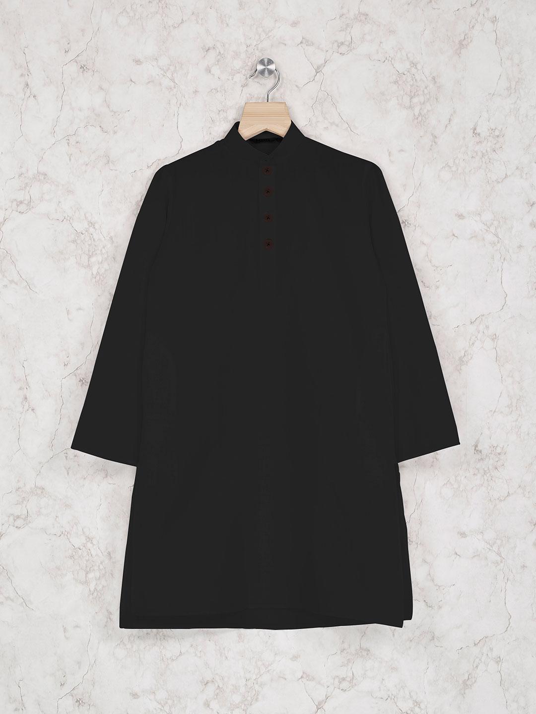 Festive wear black cotton kurta suit?imgeng=w_400