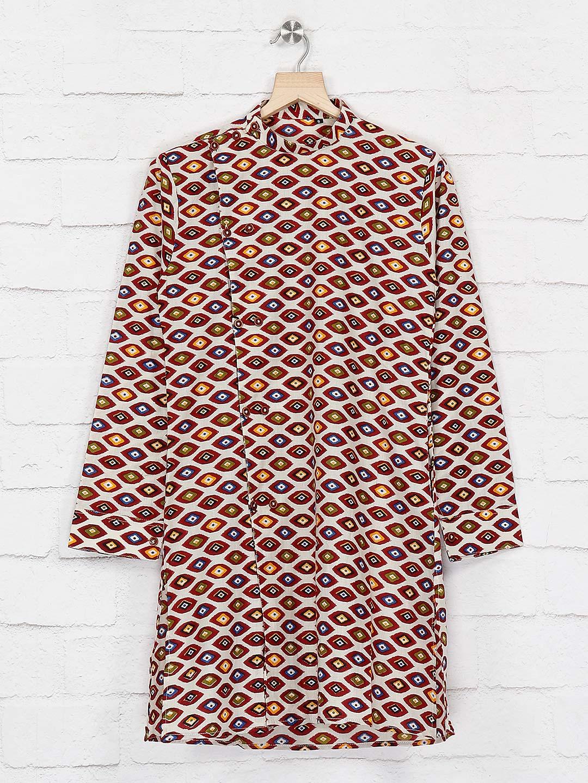 Festive wear maroon printed cotton kurta suit?imgeng=w_400