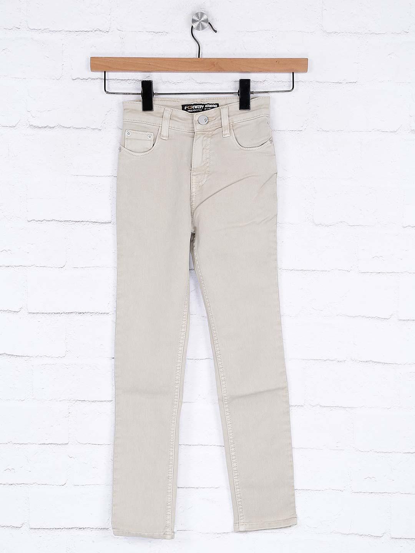 Forway beige denim fabric slim fit jeans?imgeng=w_400