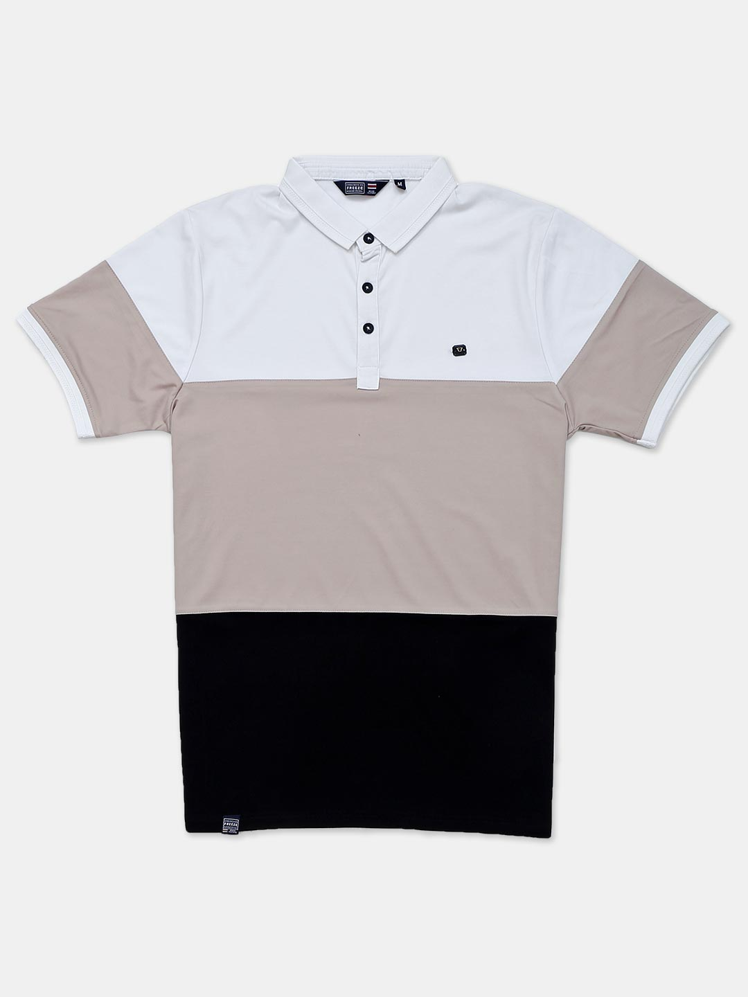 Freeze cotton beige solid polo t-shirt?imgeng=w_400