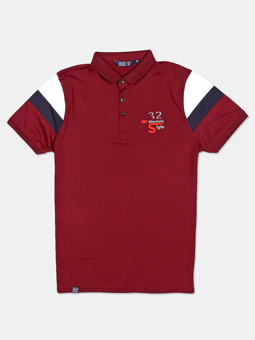 Freeze cotton maroon solid polo t-shirt?imgeng=w_400