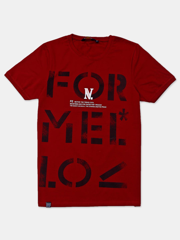 Freeze half sleeves maroon printed t-shirt?imgeng=w_400