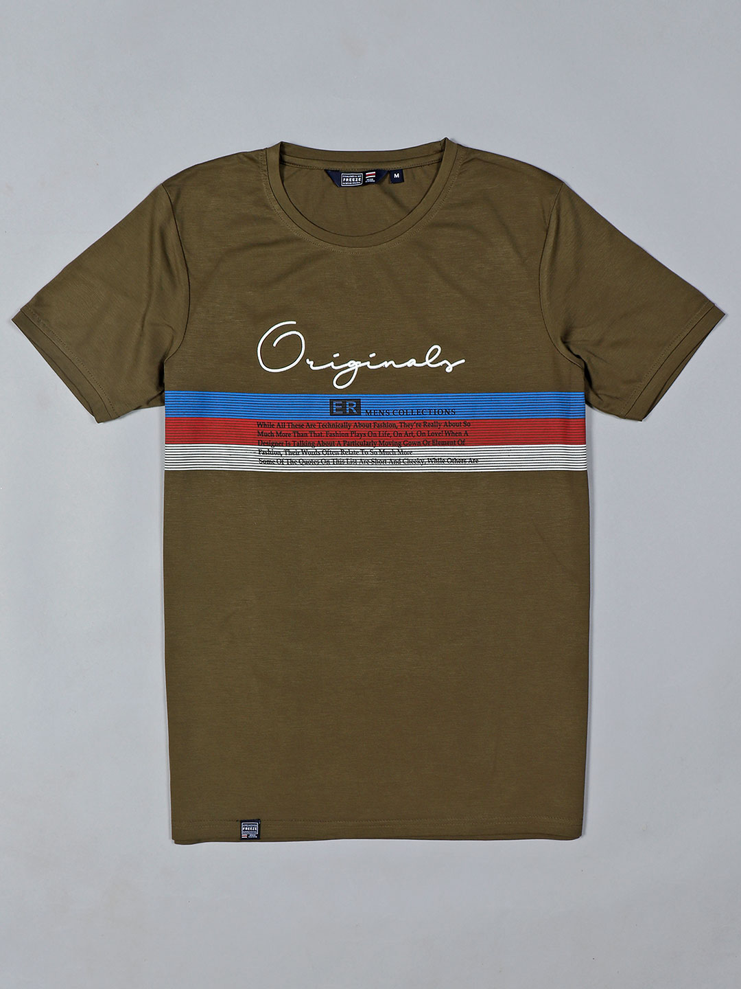 Freeze presented printed olive t-shirt?imgeng=w_400