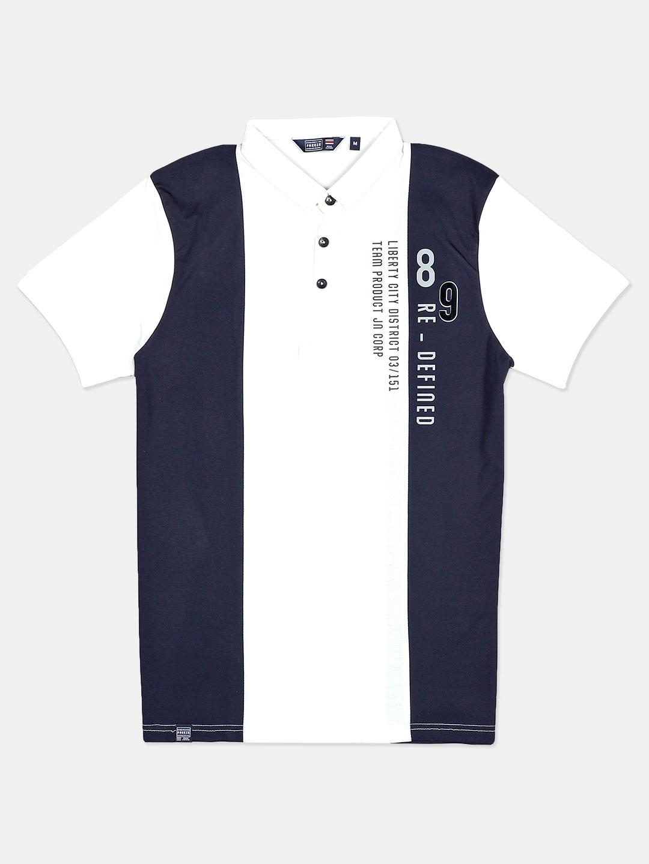 Freeze printed navy polo t-shirt?imgeng=w_400