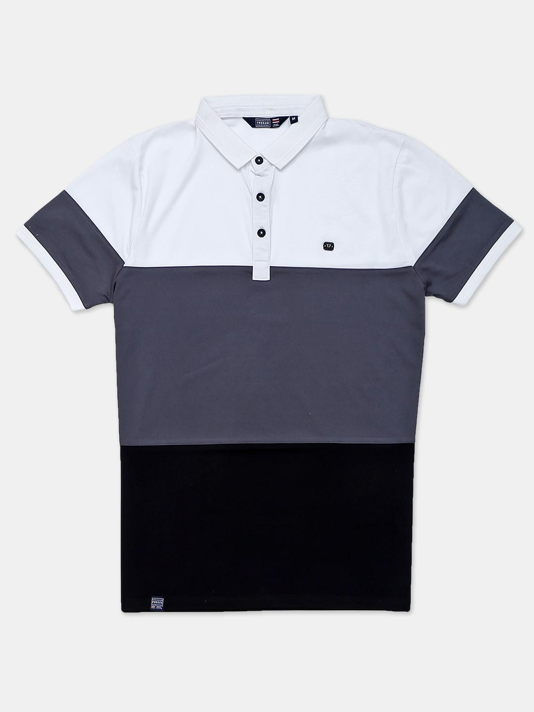 Freeze solid casual grey polo t-shirt?imgeng=w_400