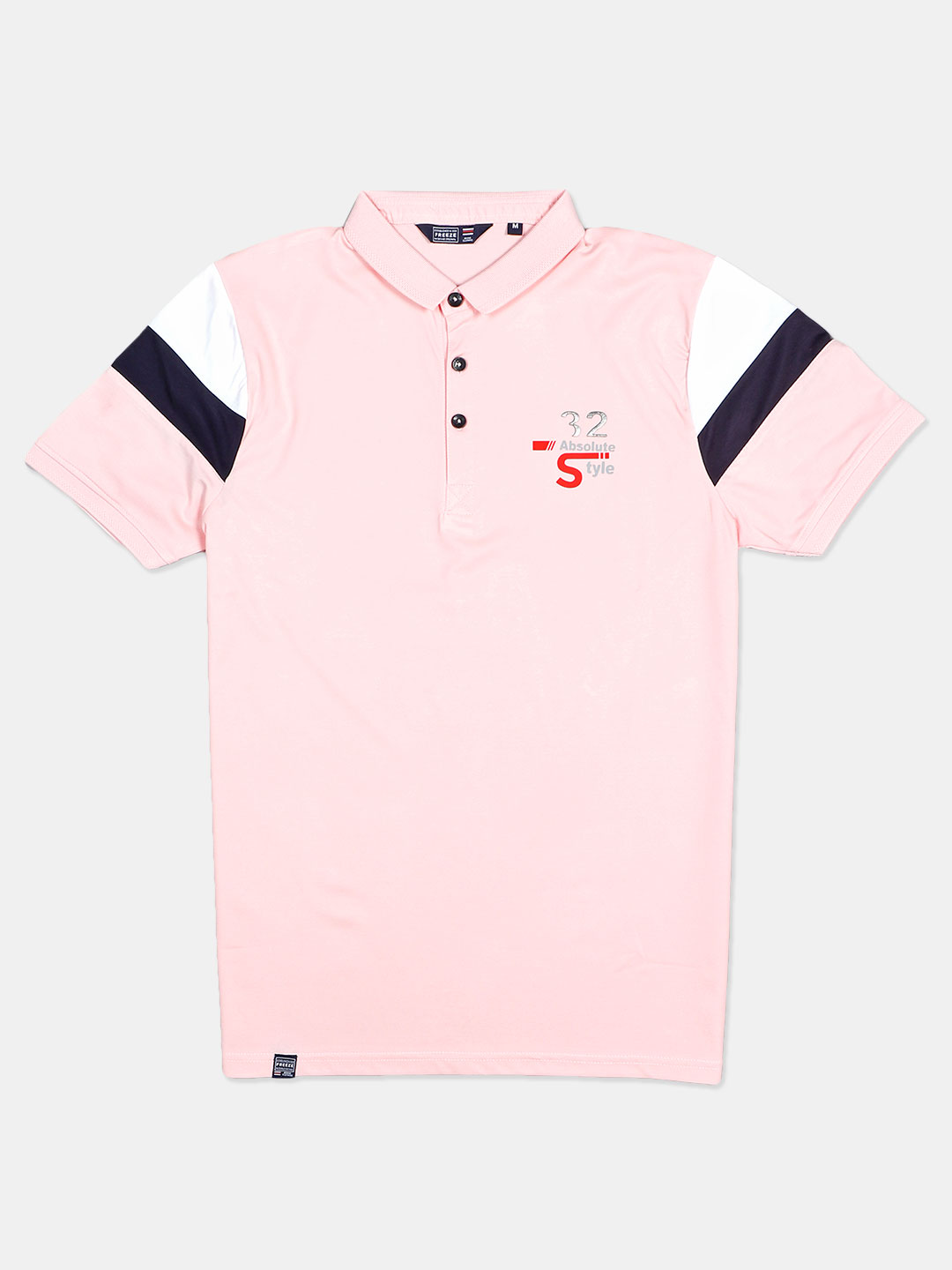 Freeze solid pink half sleeves polo t-shirt?imgeng=w_400