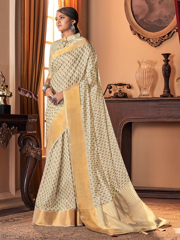 Gallant cream cotton silk festive wear sari ?imgeng=w_400