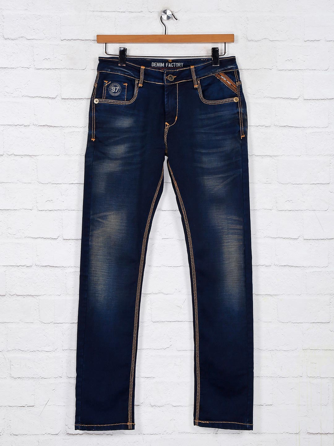 Gesture navy washed denim jeans for mens?imgeng=w_400