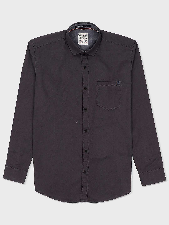 Gianti dark stone grey casual wear shirt?imgeng=w_400