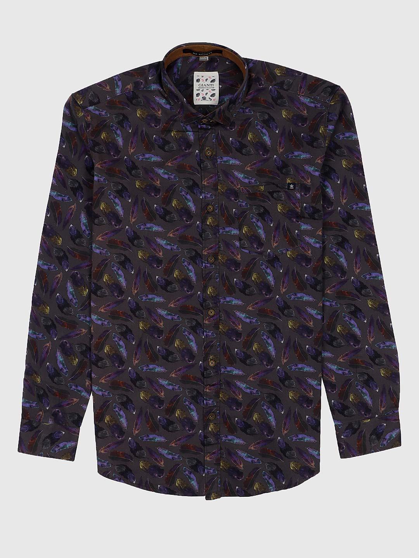 Gianti slim fit grey hue printed shirt?imgeng=w_400