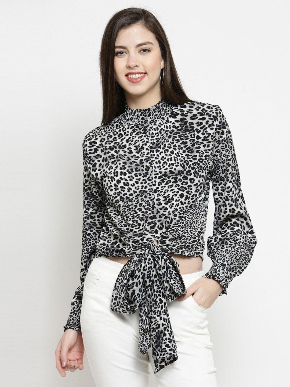 Global Republic grey crepe casual wear women top?imgeng=w_400