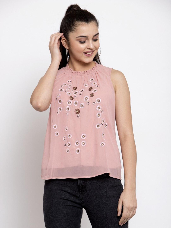 Global Republic western wear pink cotton top for women?imgeng=w_400