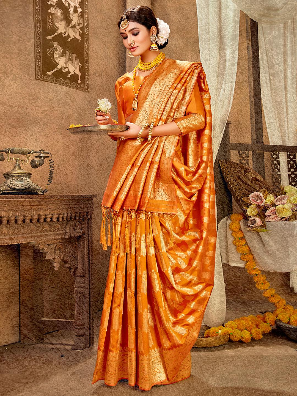 Gold banarasi silk wedding wear saree ?imgeng=w_400