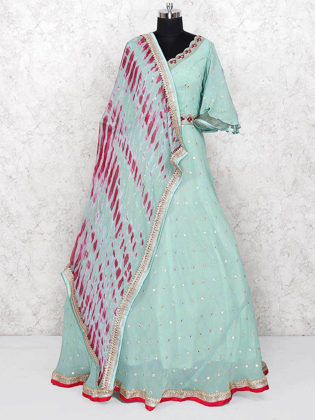 Green color georgette gown?imgeng=w_400