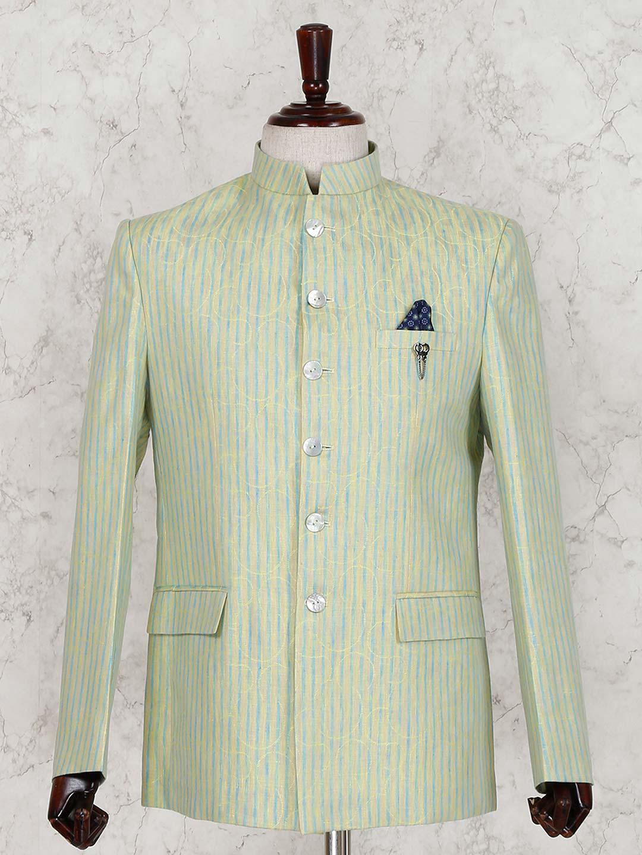 Green linen party wear jodhpuri suit?imgeng=w_400