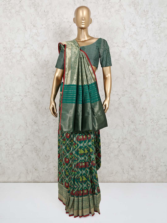 Green patola silk wedding exclusive saree?imgeng=w_400